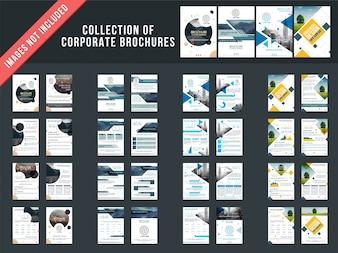 Ensemble de 4 brochures à plusieurs pages avec la conception de la page de couverture.