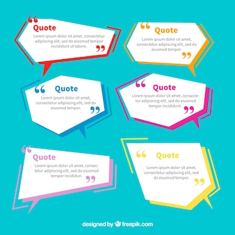 Ensemble de ballons de dialogue géométrique pour les phrases