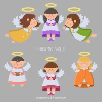 Ensemble de beaux anges de Noël