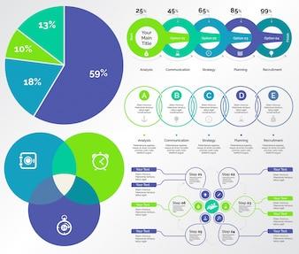 Ensemble de cinq modèles de comptabilité