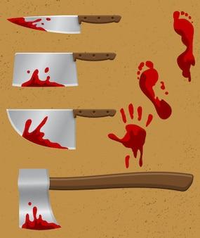 Ensemble de couteaux saignants