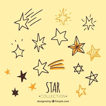 Ensemble de croquis en étoiles