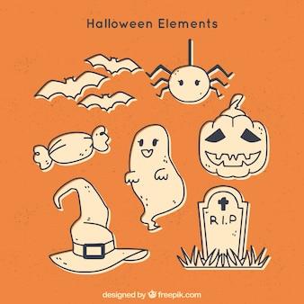 Ensemble de dessin animé Halloween