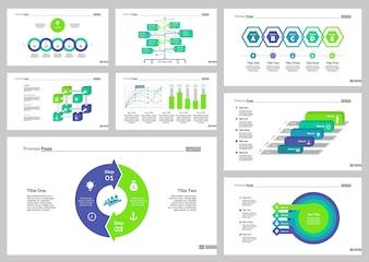 Ensemble de modèles de diapositive de huit correctifs