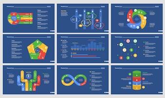 Ensemble de modèles de diapositives de neuf flux de travail