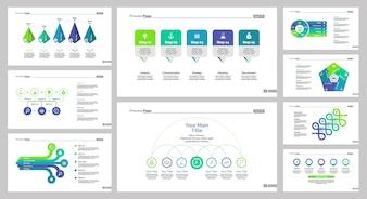 Ensemble de modèles de diapositives neufs en équipe