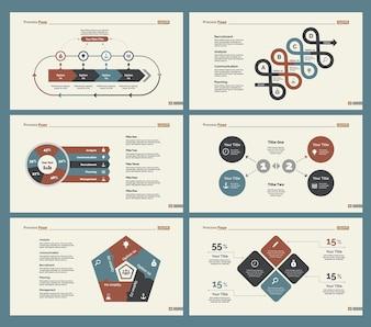 Ensemble de modèles de diapositives Six Economics