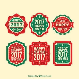 Ensemble de nouvelle année autocollants aux couleurs de Noël