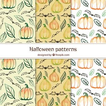 Ensemble de patchs aquarelle Halloween