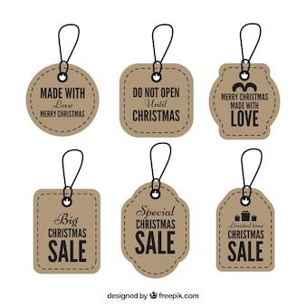 Ensemble de rétro étiquettes de Noël ventes