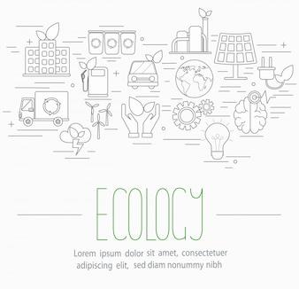 Ensemble de symboles écologiques