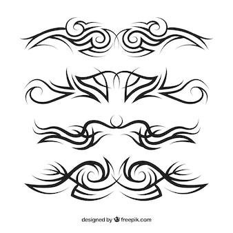 Ensemble de tatouage tribal