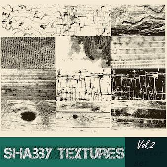 Ensemble de textures dans le style vintage