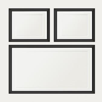 Ensemble de Vintage blanc cadre photo isolé avec chemin de détourage