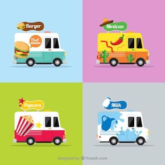 Ensemble original de camions d'alimentation