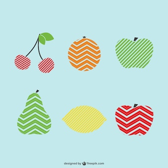 Ensemble vecteur logo de fruits de modèle
