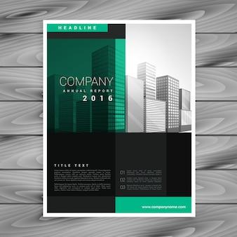 Entreprise sombre modèle de modèle d'affiche de brochure dans le style de forme géométrique