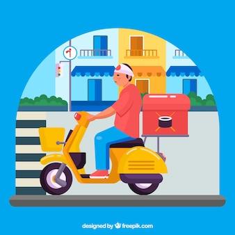Entretien de sushi sur scooter