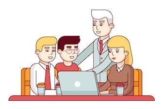 Équipe de jeunes employés