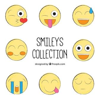 Esquisses smileys jaunes