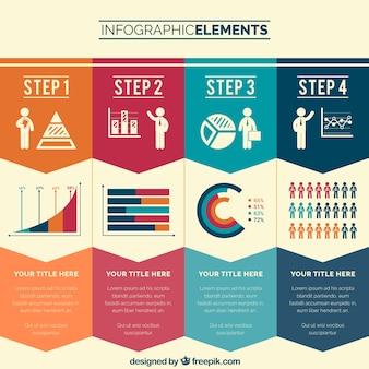 étapes d'affaires infographie