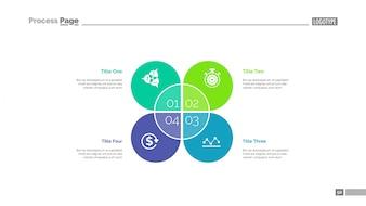 Étapes pour atteindre les objectifs modèle de diapositive