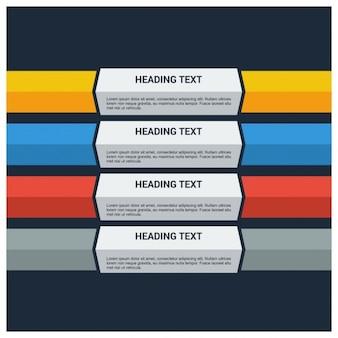 étapes rubrique texte modèle bannière infographique