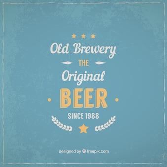 Étiquette de bière typographique