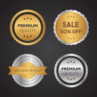 Étiquette de magasin d'or et d'argent