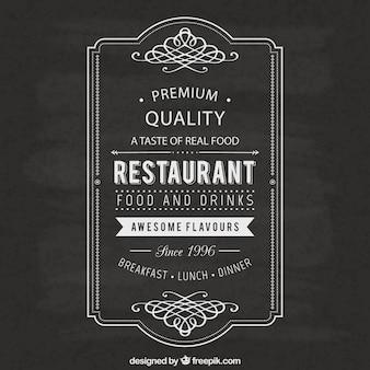 Étiquette de restaurant Vintage