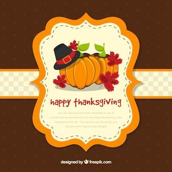étiquette de thanksgiving