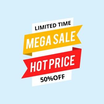 Étiquette de vente chaude jusqu'à 50% de rabais sur le signe.