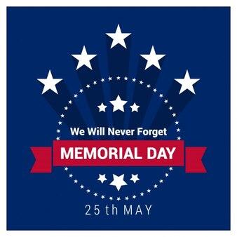 étiquette Memorial Day Vintage