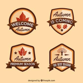 Étiquettes classiques d'automne