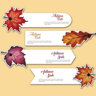 étiquettes d'automne