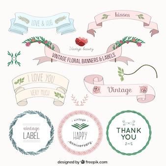 Étiquettes de célébration et Bannières