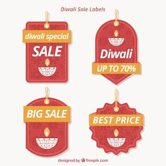 Étiquettes de vente Diwali