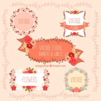 Étiquettes florales