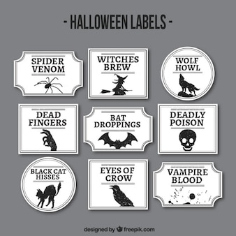 étiquettes Halloween