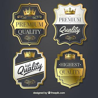Étiquettes premium vintage élégantes