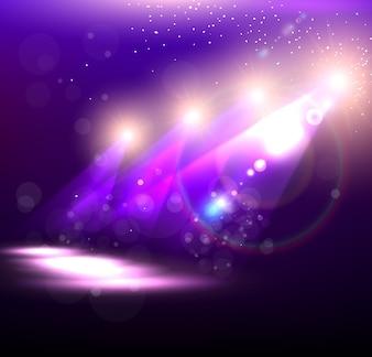 Étoiles, lueur, fée, fond, noël