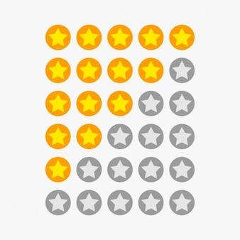 étoiles symboles de classement