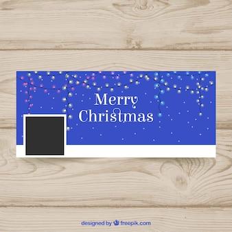 Facebook couverture lumières de Noël