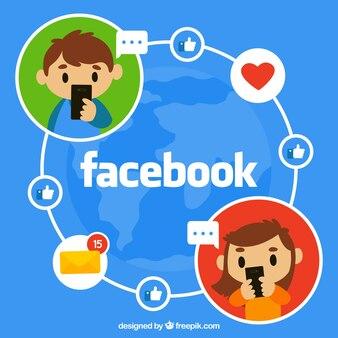 Facebook fond avec les gars communication