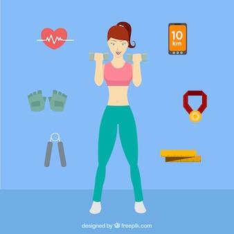 Femme doing fitness