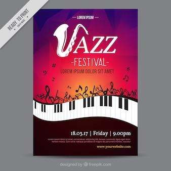 Festival de jazz de la brochure créative