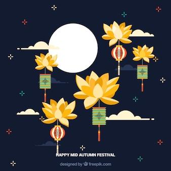 Festival de l'automne moyen, joli fond