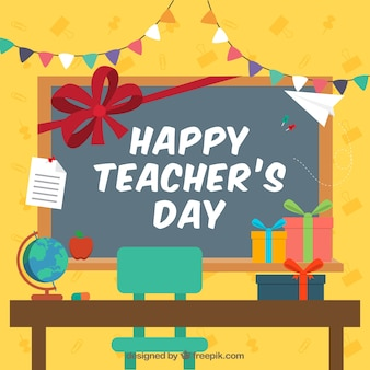Fête du jour de l'enseignant dans la salle de classe