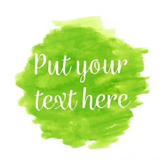 Feu vert fond d'aquarelle