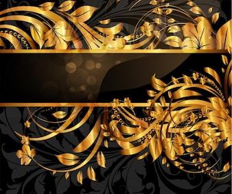 Feuille décorative miroir vignette de fleurs